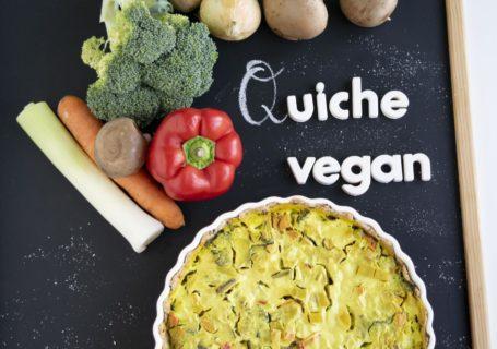 vegane & proteinreiche Gemüsequiche mit Dinkelvollkornmehl, gemüsequiche, quiche, veganequiche, wähe, waie, gemüsewaie, fraujanik