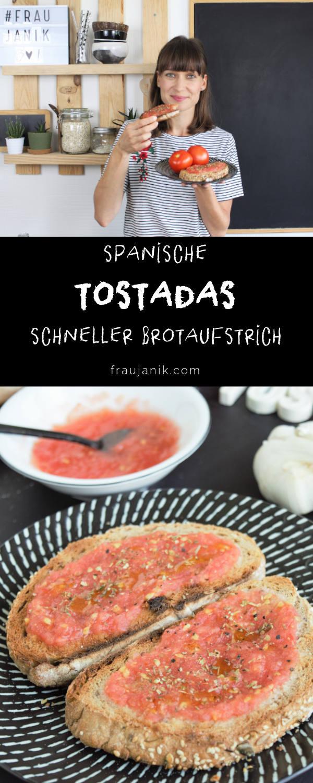 Tostadas con Tomate, bruschetta, spanische bruschetta, fraujanik, toast, tomatenaufstrich, konfitüre mit tomaten, tomatenmarmelade, marmelade aus tomaten, marmelade deftig, marmelade pikant, chutney, gesunder brotaufstrich, veganer brotaufstrich