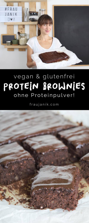 Protein Brownies ohne Haushaltszucker, vegan, glutenfrei, Kidneybohnenbrownies, fraujanik, schokokuchen, brownies ohne mehl, brownies ohne eier