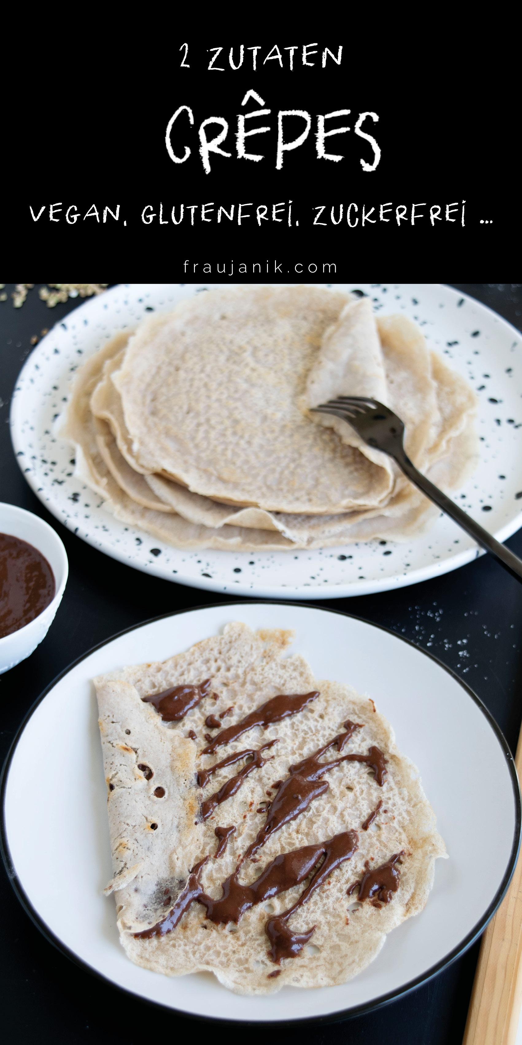 Vegane Crêpes mit nur zwei Zutaten, fraujanik, Blogger, Basel, Foodblog, ohne Zucker, Glutenfrei, mit Buchweizenmehl, schnell und einfach, proteinreich, gesund, salzig oder süss, ohne Küchenmaschine