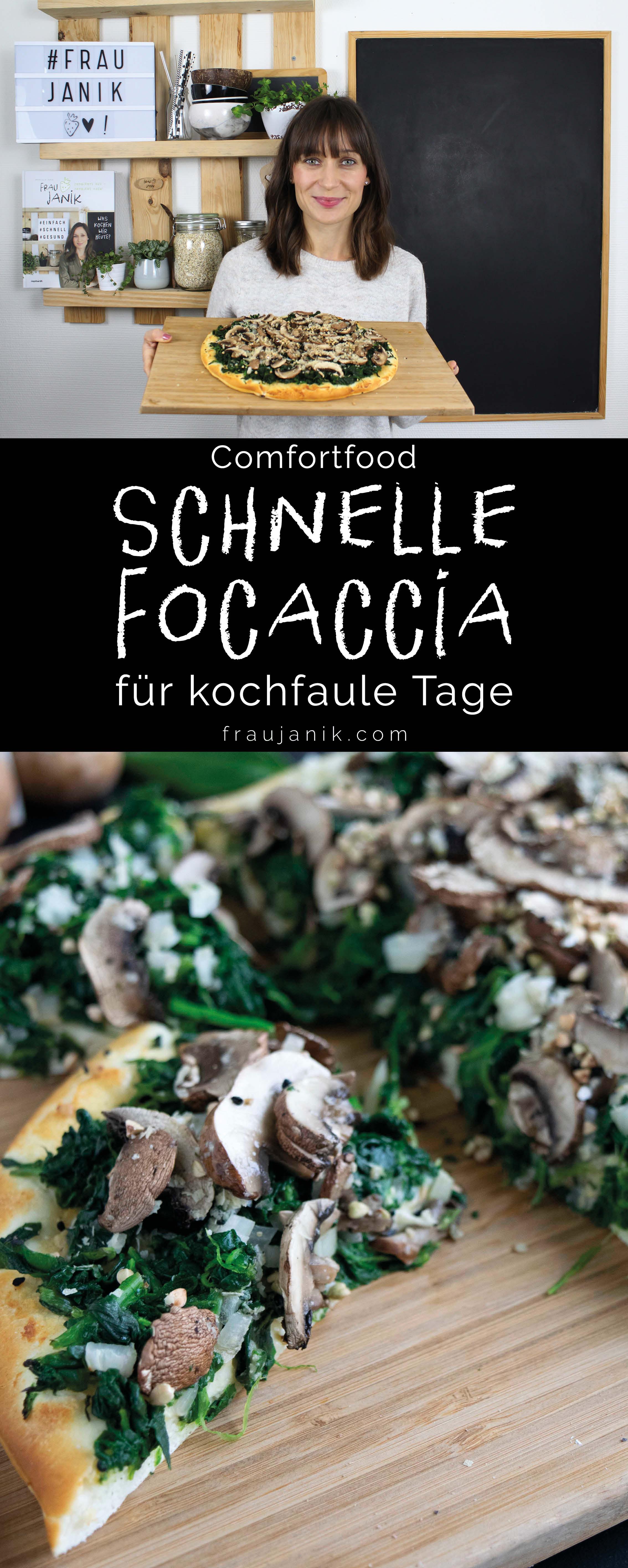 Schnelle Focaccia, Comfortfood, vegane Focaccia, gesunde Focaccia, proteinreiche Focaccia, einfache Focaccia, Focaccia für kochfaule Tage, Rezept für kochfaule Tage, schnelles Focaccia Rezept, einfaches Focaccia Rezept, einfache Hauptspeise, vegane Hauptspeise, vegane Rezepte, winterliche Rezepte, ohne Haushaltszucker, vegan, gesund, proteinreich, fraujanik, Blogger, Basel, Foodblog, schnell und einfach