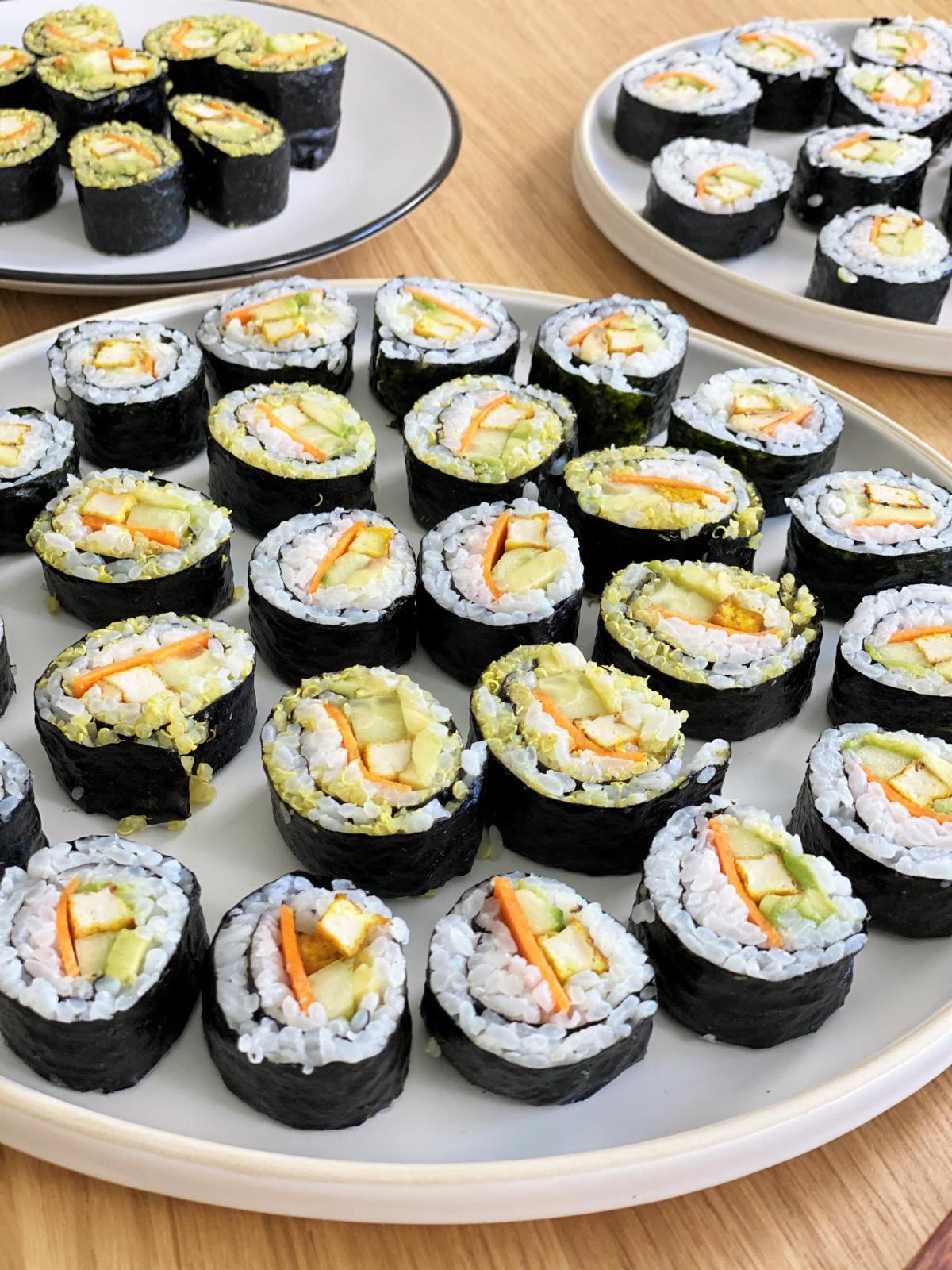 veganes Sushi selber maschen, frau janik